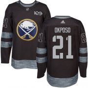 Wholesale Cheap Adidas Sabres #21 Kyle Okposo Black 1917-2017 100th Anniversary Stitched NHL Jersey