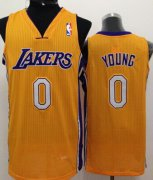 Wholesale Cheap Los Angeles Lakers #0 Nick Young Yellow Swingman Jersey