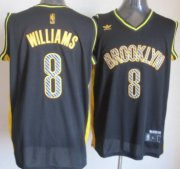 Wholesale Cheap Brooklyn Nets #8 Deron Williams Black Electricity Fashion Jersey