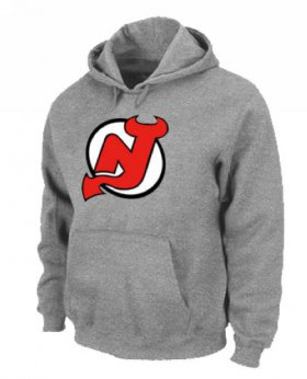 Wholesale Cheap NHL New Jersey Devils Big & Tall Logo Pullover Hoodie Grey