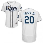 Wholesale Cheap Rays #20 Steven Souza White Flexbase Authentic Collection Stitched MLB Jersey