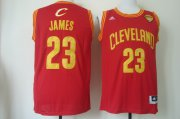 Wholesale Cheap Men's Cleveland Cavaliers #23 LeBron James 2016 The NBA Finals Patch Red Swingman Jersey
