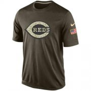 Wholesale Cheap Men's Cincinnati Reds Salute To Service Nike Dri-FIT T-Shirt