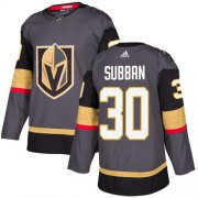 Wholesale Cheap Adidas Golden Knights #30 Malcolm Subban Grey Home Authentic Stitched NHL Jersey
