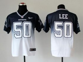 Wholesale Cheap Nike Cowboys #50 Sean Lee Navy Blue/White Men\'s Stitched NFL Elite Fadeaway Fashion Jersey