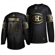 Wholesale Cheap Adidas Canadiens Custom 2019 Black Golden Edition Authentic Stitched NHL Jersey