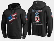 Wholesale Cheap Coyotes #6 Jakob Chychrun NHL Banner Wave Usa Flag Black Hoodie