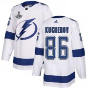 Cheap Adidas Lightning #86 Nikita Kucherov White Road Authentic Youth 2020 Stanley Cup Champions Stitched NHL Jersey