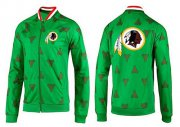 Wholesale Cheap NFL Washington Redskins Team Logo Jacket Green
