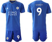 Wholesale Cheap Leicester City #9 Vardy Home Soccer Club Jersey
