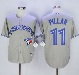 Wholesale Cheap Blue Jays #11 Kevin Pillar Grey New Cool Base Stitched MLB Jersey