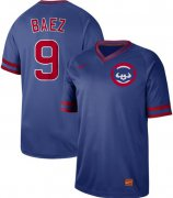 Wholesale Cheap Nike Cubs #9 Javier Baez Royal Authentic Cooperstown Collection Stitched MLB Jersey