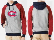 Wholesale Cheap Montreal Canadiens Pullover Hoodie Grey & Red
