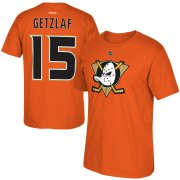 Wholesale Cheap Anaheim Ducks #15 Ryan Getzlaf Reebok Alternate Name & Number T-Shirt Orange