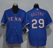 Wholesale Cheap Rangers #29 Adrian Beltre Blue Cool Base Stitched Youth MLB Jersey