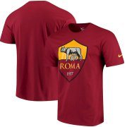 Wholesale Cheap AS Roma Nike QT T-Shirt Red