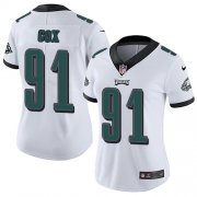 Wholesale Cheap Nike Eagles #91 Fletcher Cox White Women's Stitched NFL Vapor Untouchable Limited Jersey