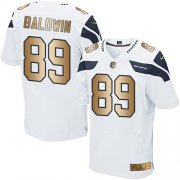 Wholesale Cheap Nike Seahawks #89 Doug Baldwin White Men's Stitched NFL Elite Gold Jersey