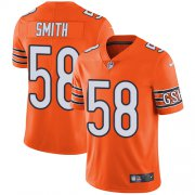 Wholesale Cheap Nike Bears #58 Roquan Smith Orange Men's Stitched NFL Limited Rush Jersey