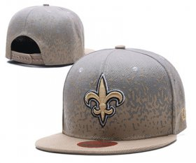 Wholesale Cheap NFL New Orleans Saints Team Logo Black Snapback Adjustable Hat 1034