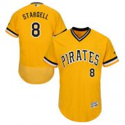 Wholesale Cheap Pirates #8 Willie Stargell Gold Flexbase Authentic Collection Cooperstown Stitched MLB Jersey