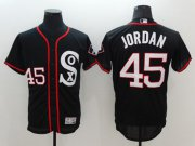 Wholesale Cheap White Sox #45 Michael Jordan Black New Flexbase Authentic Collection Stitched MLB Jersey