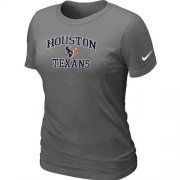 Wholesale Cheap Women's Nike Houston Texans Heart & Soul NFL T-Shirt Dark Grey