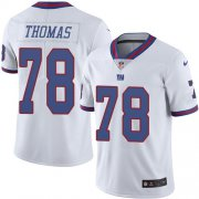 Wholesale Cheap Nike Giants #78 Andrew Thomas White Men's Stitched NFL Limited Rush Jersey