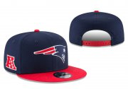 Wholesale Cheap Patriots Team Logo Navy Red Adjustable Hat LT
