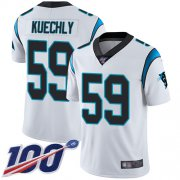 Wholesale Cheap Nike Panthers #59 Luke Kuechly White Youth Stitched NFL 100th Season Vapor Limited Jersey
