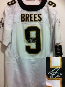 Wholesale Cheap Nike Saints #9 Drew Brees White Men's Stitched NFL Elite Autographed Jersey