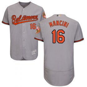 Wholesale Cheap Orioles #16 Trey Mancini Grey Flexbase Authentic Collection Stitched MLB Jersey