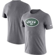 Wholesale Cheap New York Jets Nike Essential Logo Dri-FIT Cotton T-Shirt Heather Charcoal