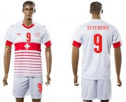 Wholesale Cheap Switzerland #9 Seferovic Away Soccer Country Jersey