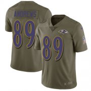 Wholesale Cheap Nike Ravens #89 Mark Andrews Olive Men's Stitched NFL Limited 2017 Salute To Service Jersey