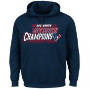 Wholesale Cheap Men's Houston Texans Majestic Navy 2015 AFC South Division Champions Pullover Hoodie