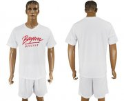 Wholesale Cheap Bayern Munchen Blank White Soccer Club T-Shirt_1
