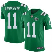 Wholesale Cheap Nike Jets #11 Robby Anderson Green Men's Stitched NFL Elite Rush Jersey