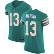 Wholesale Cheap Nike Dolphins #13 Dan Marino Aqua Green Alternate Men's Stitched NFL Vapor Untouchable Elite Jersey