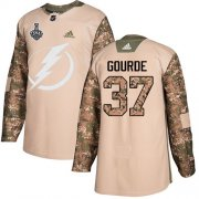 Wholesale Cheap Adidas Lightning #37 Yanni Gourde Camo Authentic 2017 Veterans Day Youth 2020 Stanley Cup Final Stitched NHL Jersey