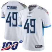 Wholesale Cheap Nike Titans #49 Nick Dzubnar White Youth Stitched NFL 100th Season Vapor Untouchable Limited Jersey