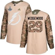 Cheap Adidas Lightning #29 Scott Wedgewood Camo Authentic 2017 Veterans Day Youth 2020 Stanley Cup Champions Stitched NHL Jersey