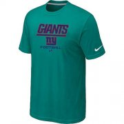 Wholesale Cheap Nike New York Giants Critical Victory NFL T-Shirt Teal Green