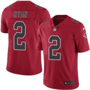 Wholesale Cheap Nike Falcons #2 Matt Ryan Red Youth Stitched NFL Limited Rush Jersey