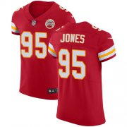 Wholesale Cheap Nike Chiefs #95 Chris Jones Red Team Color Men's Stitched NFL Vapor Untouchable Elite Jersey