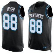 Wholesale Cheap Nike Panthers #88 Greg Olsen Black Team Color Men's Stitched NFL Limited Tank Top Jersey