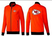 Wholesale NFL Kansas City Chiefs Team Logo Jacket Orange