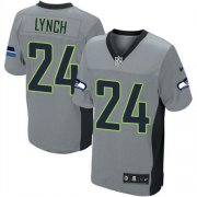 Wholesale Cheap Nike Seahawks #24 Marshawn Lynch Grey Shadow Youth Stitched NFL Elite Jersey