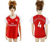 Wholesale Cheap Women's Arsenal #4 Mertesacker Home Soccer Club Jersey