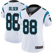 Wholesale Cheap Nike Panthers #88 Greg Olsen White Women's Stitched NFL Vapor Untouchable Limited Jersey